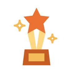 See more icon inspiration related to win, award, star, sports and competition, champion, prize, winner, trophy and cup on Flaticon.