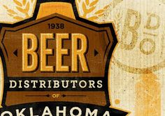 The Beer Distributors of Oklahoma #logo #texture #beer