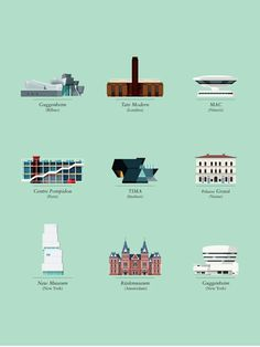 Iconic buildings illustrated by Le Duo #famous #monuments #design #illustrations #iconic #buildings