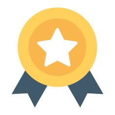 See more icon inspiration related to medal, award, quality, certificate, winner, certification, sports and competition and seo and web on Flaticon.