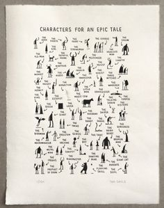Tom Gauld - epic tale print #an #tale #gauld #tom #illustration #for #characters #epic