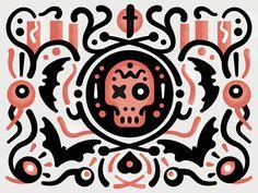 Tumblr #illustration #skull #bat #eyeball #halloween