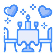 See more icon inspiration related to love and romance, furniture and household, romantic dinner, date, table, cups, love, dinner, wine and bottle on Flaticon.