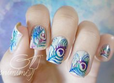 50+ WATERCOLOR NAIL ART IDEAS