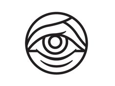 Dribbble - Eye by Tyler Thompson #illustration #logo #simple #clean #eye #stroke #dribbble #tyler thompson