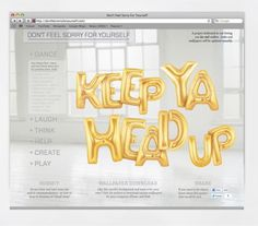 Don't Feel Sorry For Yourself #megssenk #design #graphic #dontfeelsorryforyourself #website #web