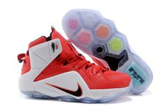 Nike on Sale Zoom Lebron Xii 12 Mens Online White Red