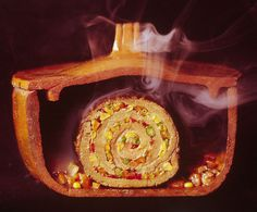 Argentinian matambre, a slice of beef rolled with vegetables and chilies, 1966 #cook