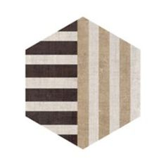 Decorative hexagon in ivory-sand. *The mixed decorative hexagons come in a mix of designs and color blends