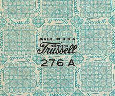 Graphic design (Trussell vintage type and pattern, via growhousegrow) #logo #graphic #trussell