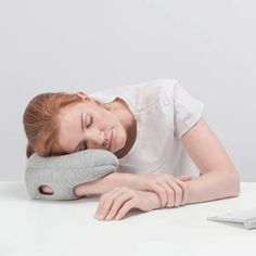 Take comfortable power naps in unconventional settings. #design #product #product design #industrial design #pillow #travel #home #portable