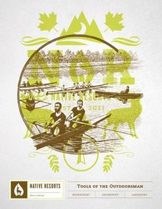Design Work Life » Student Work: Brian Rau: Native Resorts Identity #water #outdoors #nature #boat #sport #resort