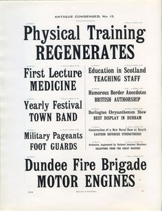 Antique Condensed type specimen #type #specimen #vintage