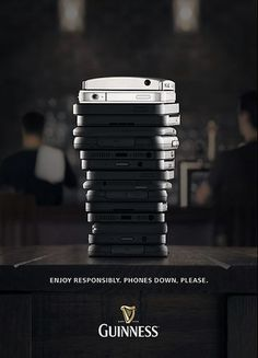 Guinness ad #pint #phone #tack