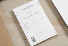 Vienna Woods by Anagrama #print #invoice