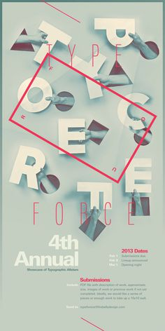 Typeforce 4 Submission Announcement on Behance #design #hands