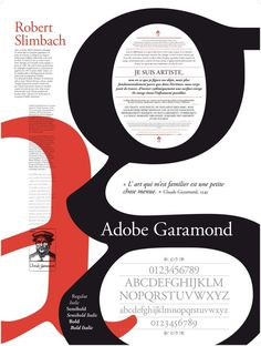 Adobe Garamond, Poster Typography