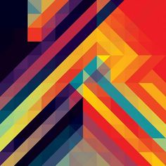 Andy Gilmore Bright Geometric Pattern #gilmore #andy #pattern #geometric