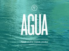 Agua #water #big #liquid #poster #knockout #type #blue #typography
