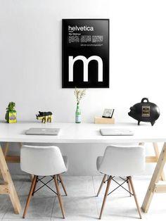 Menta Picante Studio #chairs #studio #gold #poster #helvetica