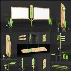 school | Wayfinding | Signage | Sign | Design 厦门树德实验小学导视系统设计【全套C4D标识标牌vi】