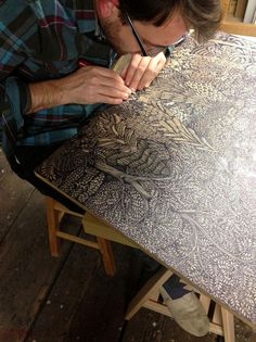 Overlook: A New Woodcut Print from Tugboat Printshop  wood prints wood posters and prints illustration forests
