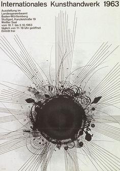 Herbert W. Kapitzki — Interationales Kunsthandwerk (1963) #minimal #poster