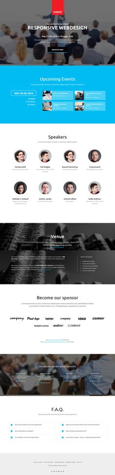 blue, web design, clean, layout