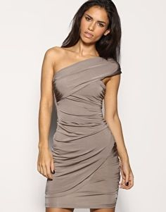 ASOS | ASOS Twisted Slinky One Shoulder Dress at ASOS ($20-50) — Svpply #asos #shoulder #womens #one #fashion #dress