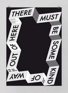 There_Must_Be_neu_F41.jpg (570×786) #design #poster #typography
