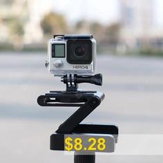 Folding #Z #Shape #Camera #Stand #Holder #Plate #Gopro #Desktop #Tripod #- #BLACK