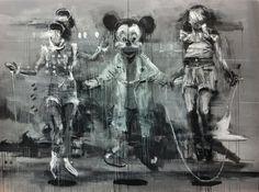 kim byungkwan paintings #illustration #mickey #oil
