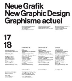 Neue Grafik/New Graphic Design/Graphisme actuel 1958–1965 | Lars Müller reprint via www.typetoken.net