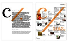 Pages from the season brochure. The identity can be layered with other typography or images.