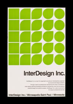 InterDesign Inc Poster #retro #geometric #grid #vintage #poster #helvetica