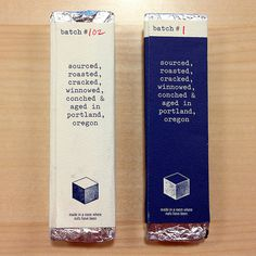 Woodblock Chocolate Handmade in Portland #packaging