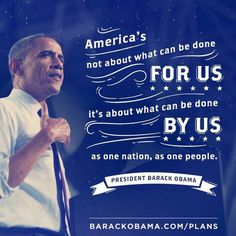 America By US #design #type #obama #quote