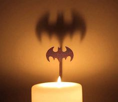 Batman Candle Attachment #tech #flow #gadget #gift #ideas #cool