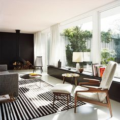 Atrium House by BFS Design image3 #danish #mid #fireplace #century #rug