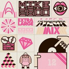 EXTRA LARGE Megamix | Turntable Lab ECE Blog #graphics #illustration
