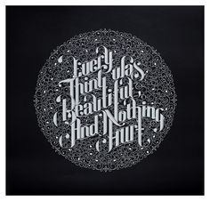 Type Exhibition 'Back in Five Minutes' + Video on Behance #script #white #black #custom #type #bw #typography