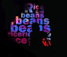 Rice. And Beans #illustration #beans #and #rice