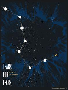 Tears for Fears Concert Poster #poster #gigposters #music #tearsforfears #silkscreen #glow #glowinthedark #screenprint #sacramento