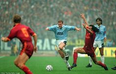 When in Rome: Gascoigne won over the Lazio fans by scoring in the derby #gazza