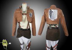 Attack on Titan Eren Jaeger Cosplay Costume + Wig #jaeger #costume #eren #cosplay