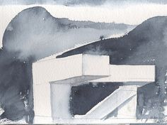 STEVEN HOLL ARCHITECTS #architecture #painting #watercolor #steven holl