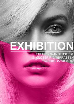 Frederik Wannerstedt: Exhibition #exhibition #design #poster