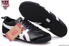 Mens Onitsuka Tiger Mexico 66 Black White Shoes #shoes