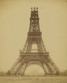 Louis Émille Durandelle (French, 1839 1917) 'The Eiffel Rower: State of Construction' 1888 #paris #eiffel #monument #construction #icon #architecture #vintage #tower