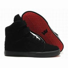 men's supra tk society high tops all black suede #fashion